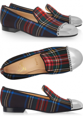 Christian louboutin rollergirl tartan plaid canvas loafers are quite