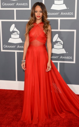Rihanna in Alaia 2013 Grammys