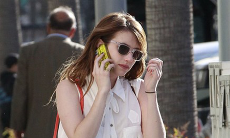 "SPOTTED: Emma Roberts Carrying Loeffler Randall ""Mini Rider"" Bag"