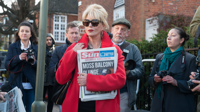 "Joanna Lumley in ""Absolutely Fabulous: The Movie"""