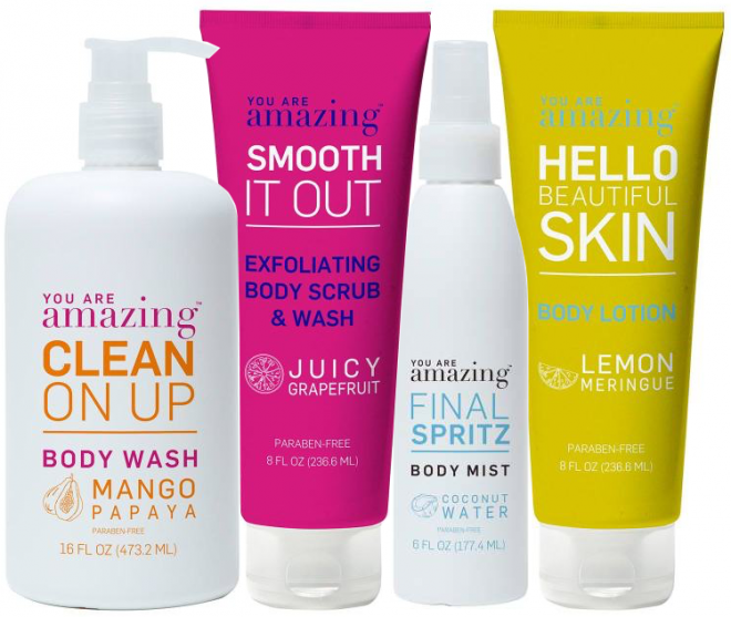 You-Are-Amazing-Body-Wash-Scrub-Mist-Beauty-Review-Lotion