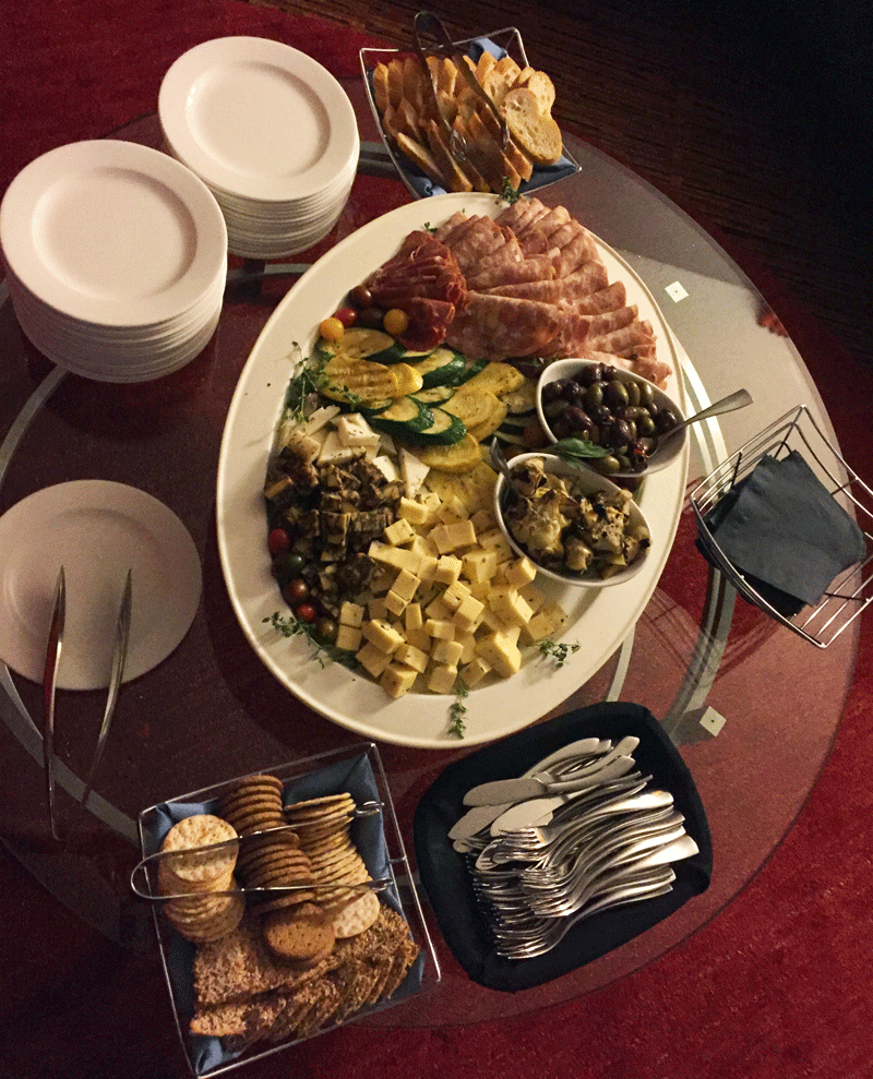 Hotel Valley Ho created a posh spread for guest to nibble while mingling!