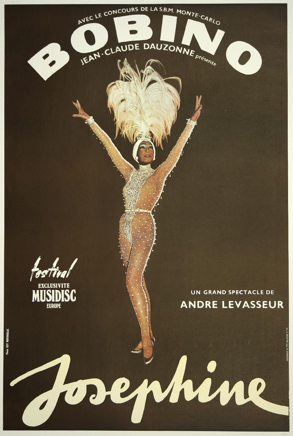 Josephine's promotional at Bobino music hall in 1975 to celebrate her 50th anniversary in the business.