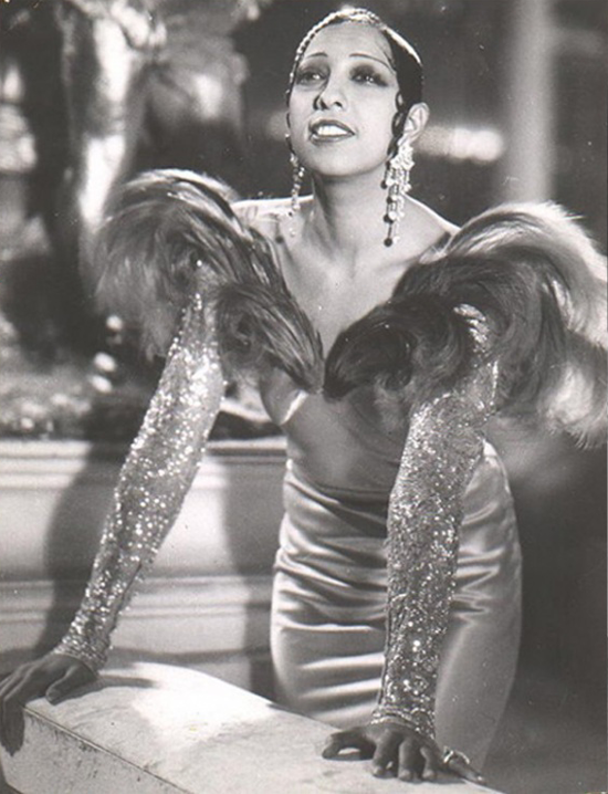Josephine knows how to glam it up in feathers and sequins.