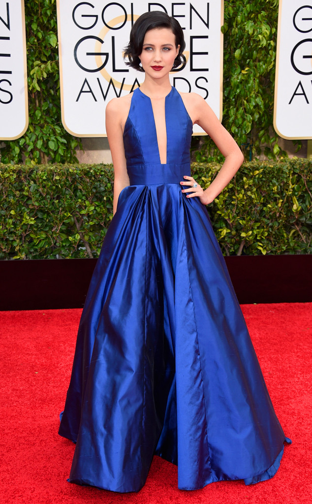 Golden Globes Red Carpet Julie Goldani Telles Carmen Marc Valvo