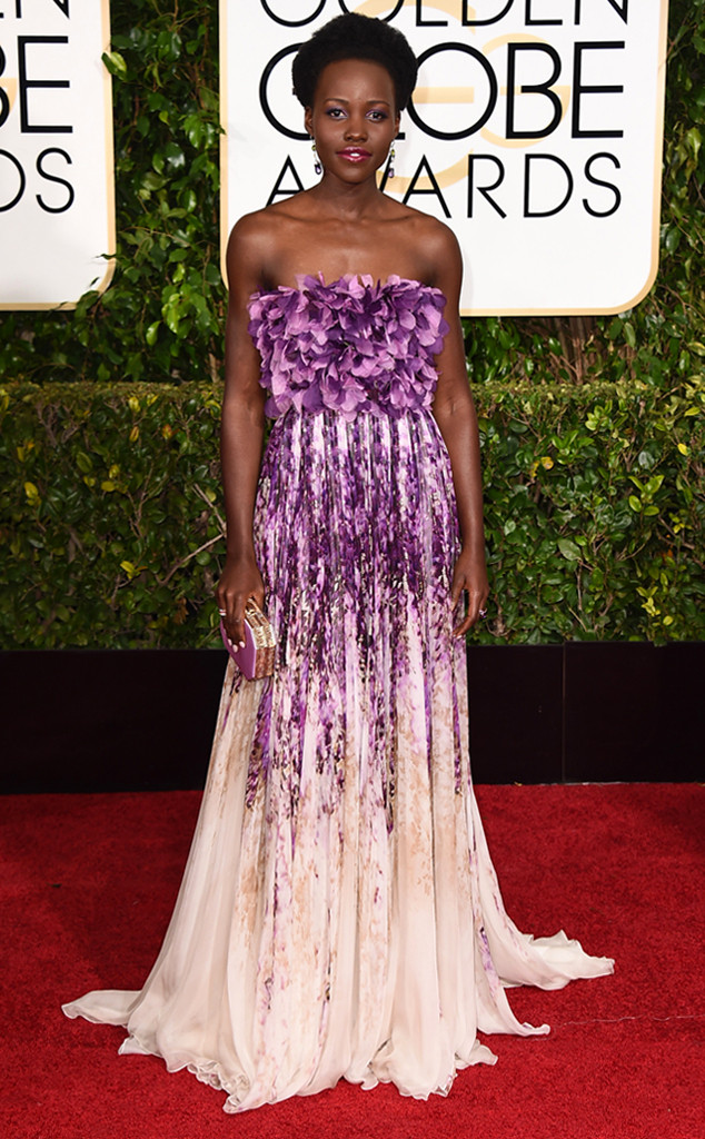 Golden Globes Red Carpet Lupita Nyongo Giambattista Valli