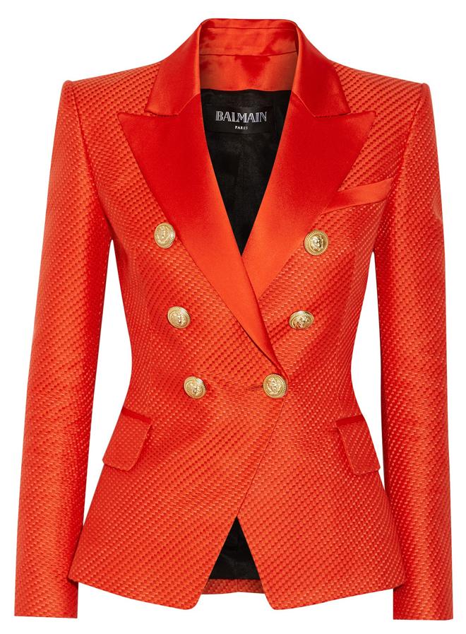Balmain-Duchesse-Satin-Trimmed-Blazer