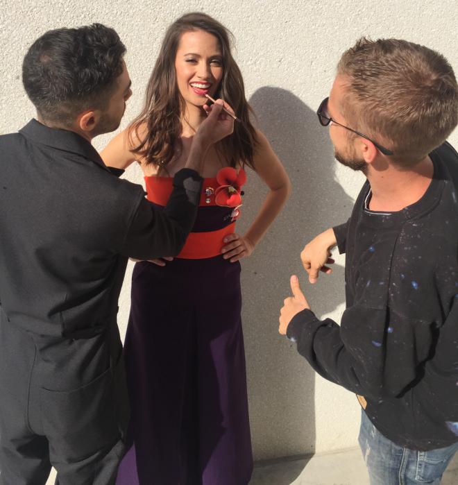 Kristen-Gutoskie-LaPalme-Magazine-Eggplant-Dress