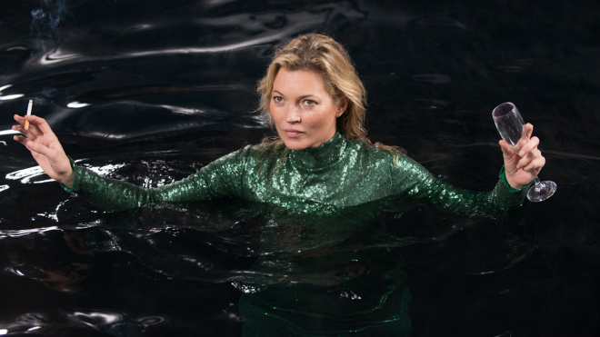 Kate Moss in Absolutely Fabulous: The Movie""