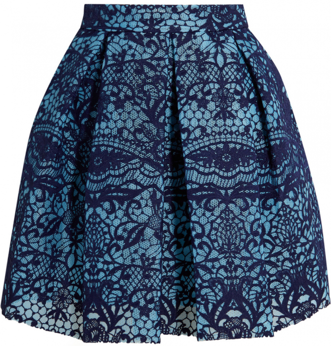 magnificent-seven-maje-pleated-guipure-lace-and-mesh-mini-skirt
