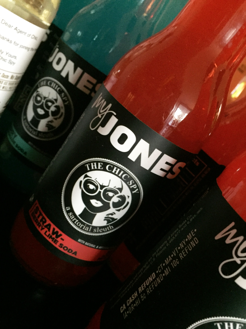 Custom Jones Soda was the beverage of choice at Chic Spy Day Soiree.