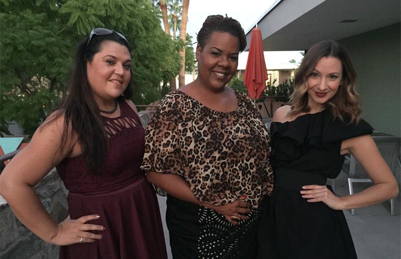 Eva Louis, Toy Taylor, and Risa Kostis celebrate Chic Spy Day.
