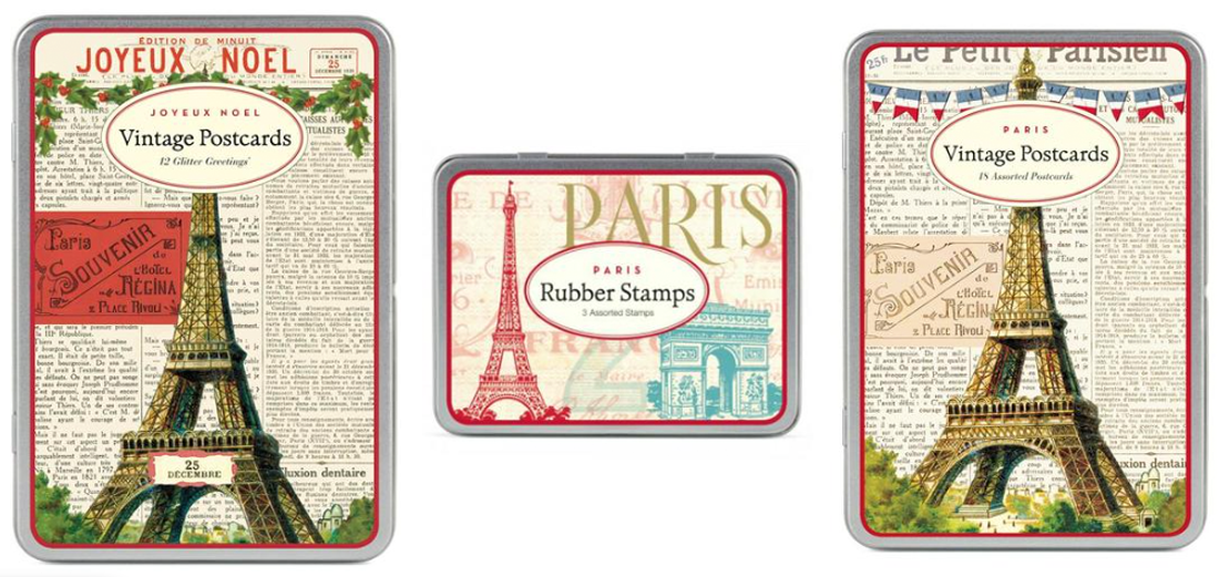 12-days-of-christmas-gift-cavallini-paris-vintage-postcards-stamp-set-tins