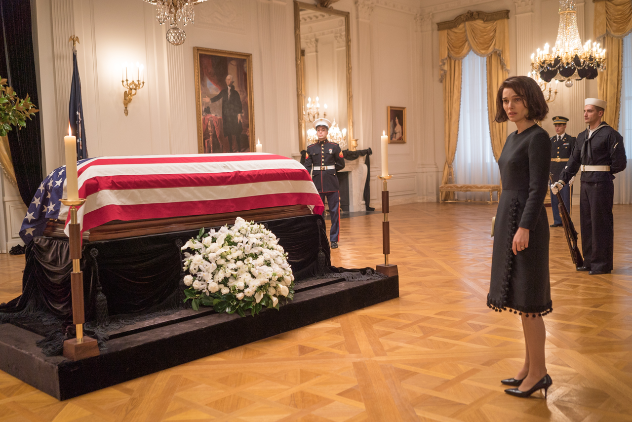 "Natalie Portman as Jackie Kennedy in ""Jackie."" (Source: Fox Searchlight)"