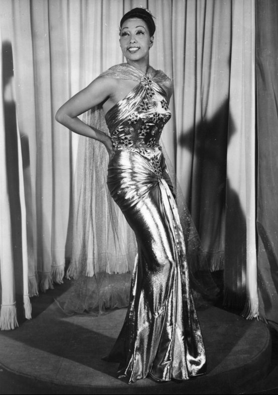 Josephine loved strikes a pose in metallic.