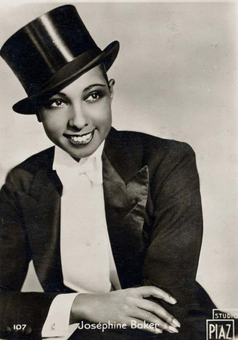 Josephine can even rock haberdashery in this top hat and tails look.